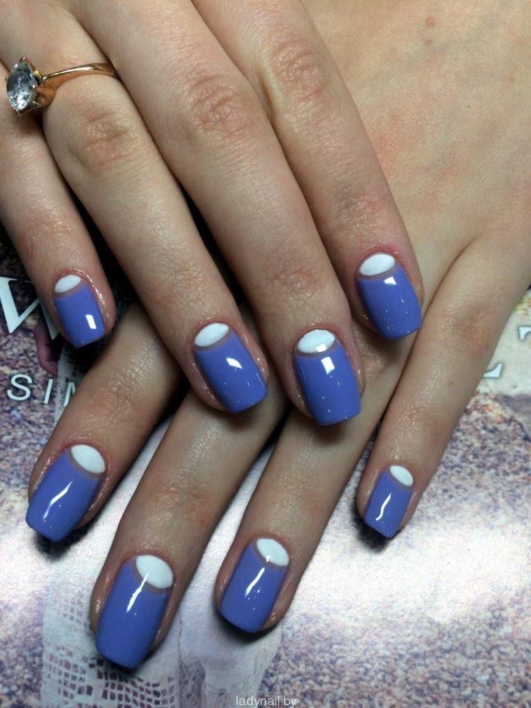 модный маникюр гель-лак лето 2015 модный дизайн фото shellac 2