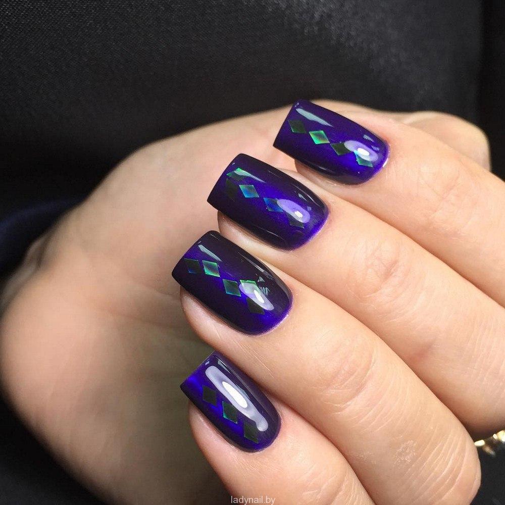 Идеи новогодних дизайнов ногтей-2
