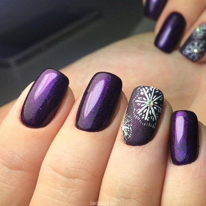 Идеи новогодних дизайнов ногтей
